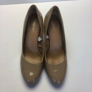 Merona Tan Patent Pleather Heel Pumps